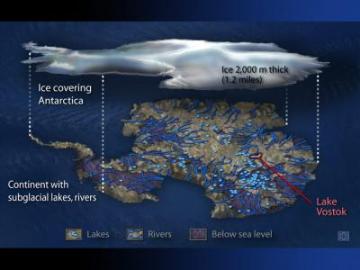 Российские ученые вскоре закончат работу над скважиной к подледному озеру Восток в Антарктиде и впервые в истории смогут заглянуть в его воды, возраст которых достигает 30 млн лет