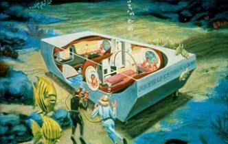 вид из номера подводного отеля Jules′ Undersea Lodge