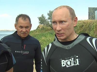 Амфоры закончились? Путин и Шойгу спустятся под воду в поисках затонувших кораблей.